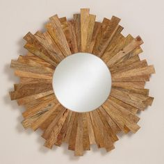 Myles Sunburst Mirror from Cost Plus World Market's New Woodland Retreat Collection >> #WorldMarket Home Decor Ideas