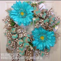 Spring / Summer Mesh Wreath on Etsy, $119.00