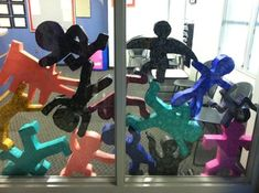 keith haring: paper mache pop art figure sculptures - {Teach with an artitude}