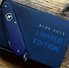 The wait is over! Our 2015 Limited Edition Blue Alox are now available at Victorinox Swiss Army retail locations! Available in Classic, Cadet & Pioneer models. Pick one up while supplies last. Victorinox Knives, Victorinox Swiss Army Knife, Types Of Knives, Knives And Tools, Best Pocket Knife, Pocket Knives, Edc Wallet, Gerber Knives, Latest Clothes For Men