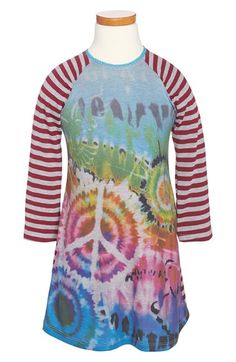 Twirls & Twigs 'Peace Sublimation' Dress (Toddler Girls, Little Girls & Big Girls) available at #Nordstrom
