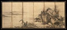7. Landscape of the Four Seasons -  Attributed to Kano Chōkichi - Muromachi period (16th century)