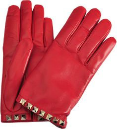 Valentino Rockstuds gloves on shopstyle.com