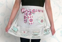 Tea Time Pretty Pockets Half Apron