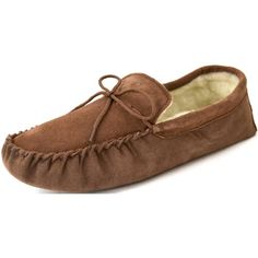 Snugrugs Men's Suede Sheepskin Moccasin Slippers With Soft Sole - http://shoes.goshopinterest.com/mens/slippers-mens/snugrugs-mens-suede-sheepskin-moccasin-slippers-with-soft-sole/