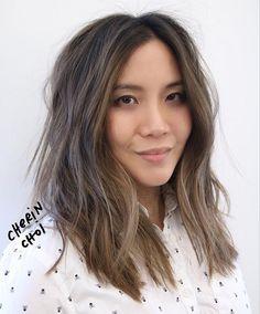 Hair from NYC. Ashy brunette #brunette #brunettehair #Ashybrunetteb#hair #haircolor #color by #mizzchoi cut and style @salsalhair @ramireztransalon #ramireztran #ramireztransalon #nyc #nychair #sf #sfhair