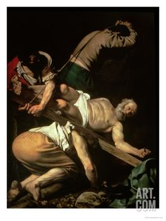 The Crucifixion of St. Peter, 1600-01 Giclee Print by Caravaggio at Art.com