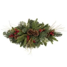 Finish off your Christmas look in your home and on your dining table with this Holly & Berry centerpiece #Festive #TableDecoration