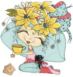from Sherri Baldy My Besties TM. Digitally colored by sarapaschal… Coloring Books, Coloring Pages, Sugar Scull, Voodoo Dolls, Hand Embroidery Stitches, Pebble Painting, Cute Characters, Cute Dolls, Pictures To Draw