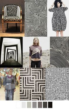 F/W 2017-18 pattern & colors trends: A-MAZE-MENT