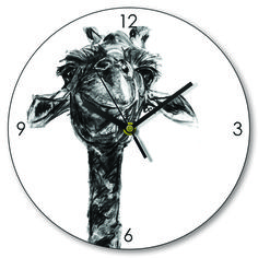Cool Giraffe Charcoal Clock