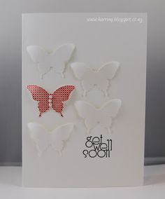 Papillon Potpourri; Delightful Dozen Cardstock:  Whisper White Ink:  Calypso Coral; Basic Black Accessories:  Butterfly Punch; Basic Pearls