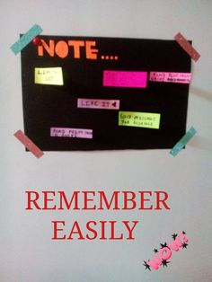 Write very important event and thing that you think you can forget!!!!