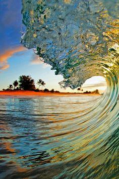 Incredible ocean waves perspective