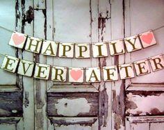 Hochzeit Banner-HAPPILY EVER after rustikal Scheune Hochzeit Dekorationen-Engagement Dekor-Custom Colors-Foto Prop-Auto anmelden-Schild