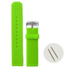 20mm Spring Green Silicone Jelly Rubber Ladies Men Watch Band Straps WB1053O20JB