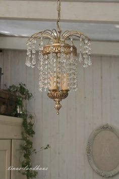 Vintage Kronleuchter - Wunderschöner alter Kristall Lüster French Chic - ein Designerstück von tinas-landhaus bei DaWanda