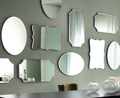 Nella Vetrina Casa Milano Vittoria Italian Mirror in Oval Etched Mirror, Led Mirror, Mirror Bathroom, Mirror Glass, Wall Mirror, Mirror Decor Living Room, Casa Milano, Paola Navone, Modern Interior