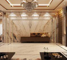 Luxury Modern Villa – Qatar on Behance - Einrichtungsstil Modern House Design, Modern Interior Design, Contemporary Interior, Living Room Interior, Living Room Decor, Apartment Interior, Studio Apartment, Living Area, Living Rooms