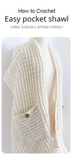 Crochet Wrap Pattern, Crochet Slipper Pattern, Crochet Patterns, Easy Crochet Slippers, Chunky Crochet, Crochet Poncho, Free Crochet, Crochet Scarves, I Cord