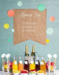 Guests will LOVE this mimosa bar.