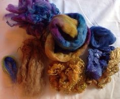 Sample kit multi fibers all hand dyed spinning by Fairytailspun