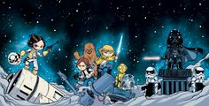 Interlocking Star Wars covers across all 3 Marvel Titles.  Here's some more info from Mtv http://www.mtv.com/news/1965507/marvel-star-wars-skottie-young-covers/?utm=share_twitter