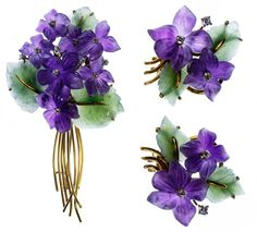 Gold, Amethyst, Quartz and Diamond Brooch and - Jun 2019 Amethyst Quartz, Diamond Brooch, Violets, Jun, Brooch Pin, Earring Set, Brooches, 18k Gold, Auction