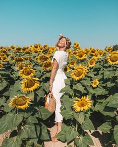 Where to Find Sunflower & Lavender Fields in Provence Sunflower Feild, Sunflower Field Pictures, Sunflower Pics, Poses Photo, Picture Poses, Ideas Fotos Tumblr, Sunflower Field Photography, Summer Aesthetic, Lavender Fields