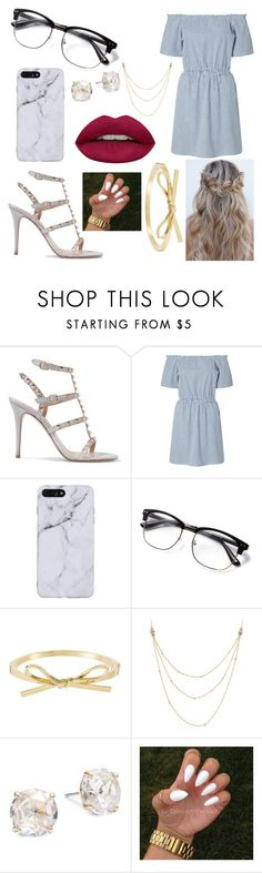 """🆗🆗"" by jade-mcarthur24 ❤ liked on Polyvore featuring Valentino, Miss Selfridge, David Yurman, Kate Spade and Huda Beauty"