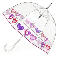 Hearts Umbrella Totes Umbrella, Bubble Umbrella, Keep My Cool, Brollies, Different Seasons, Makeup Kit, Clear Acrylic, Heart Shapes, Your Style