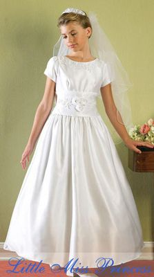 Baptism dress. I like the wide waist band