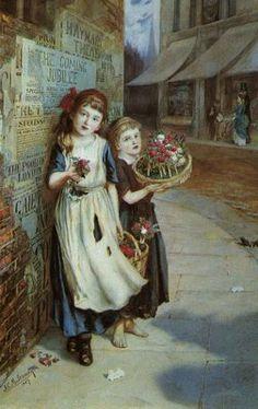 Augustus E. Mulready - Little Flower Sellers
