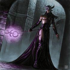 "Sorcerer of Slaanesh by ~albe75 on DeviantArt Illustration for ""Warhammer Fantasy Roleplay: Lure of Power"" ©Fantasy Flight Games"