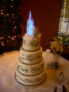 I think every girl has fantasized about the 'Cinderella' wedding...isn't this cake stunning??