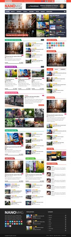 NanoMag - Responsive WordPress Magazine Theme #wordpressthemes #html5templates…