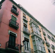 Colorful buildings in Granada, Spain