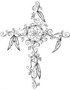 dream catcher cross tattoo - Google Search