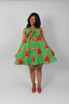 African clothing : Green Araba reversible pull over Latest African Fashion Dresses, African Dresses For Women, African Print Dresses, African Print Fashion, African Attire, Ankara Fashion, African Prints, Ankara Gown Styles, Ankara Gowns