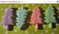 Summers End Sale 4 Unique Pastel Tree cabochon by LunasSecrets, $1.80