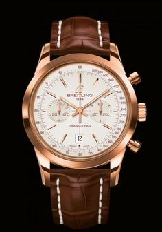 new Breitling Transocean Chronograph 38 red gold