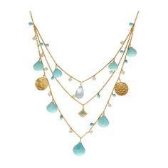 Dima Rashid Turquoise & Evil Eye Necklace ($4,030) ❤ liked on Polyvore