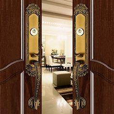 # Luxurious Mortise Lock Entry Entrance Front Door Handle Lockset (Double Door, Brown Bronze) in Handlesets. Single Doors, Double Doors, Front Door Handles, Mortise Lock, Front Door Entrance, Bronze, Hardware, Mirror, Amazon