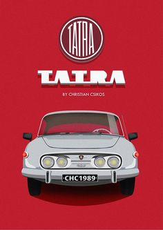 Tatra 603 by Christian Csikos  #beautiful #graphicdesign #photoshop #illustrator #vector #graphic #Tatra #Veteran