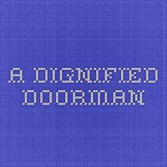 a dignified Doorman