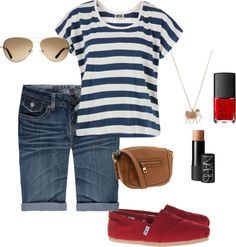 Cute & comfy summer outfit, created by evee99 on Polyvore
