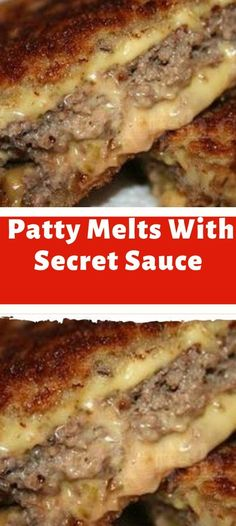 Patty Melts With Secret Sauce pounds ground beef 2 teaspoons Worcestershire sauce 1 teaspoon kosher salt ½ teaspoon ground black pepper 12 slices sourdough bread ½ cup Secret Sauce 3 medium Vidalia onions, thinly sliced 6 slices Cheddar cheese 8 table Soup And Sandwich, Sandwich Recipes, Meat Recipes, Cooking Recipes, Sandwich Melts, Sandwich Bar, Sandwich Spread, Sandwich Ideas, Slider Recipes