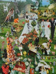 "Saatchi Art Artist Di Lin; Collage, ""Lawn Wedding"" #art"