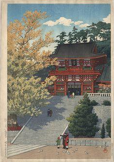 "Hasui, Kawase (1883-1957) , ""Tsurugaoka Hachimangu"" shrine, Kamakura"
