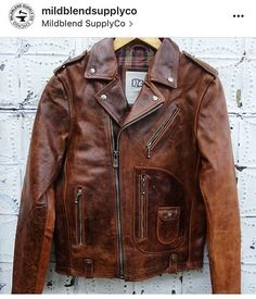 Check out our #Redfordjacket at @mildblendsupplyco they're the first to have them in stock. Available soon end of November online and a store near you. #FW16 #motorcyclejacket #leatherjacket #cowhide #fashion #menswear #outerwear #fullgrain
